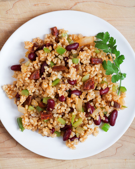 Chorizo and Red Beans Rice