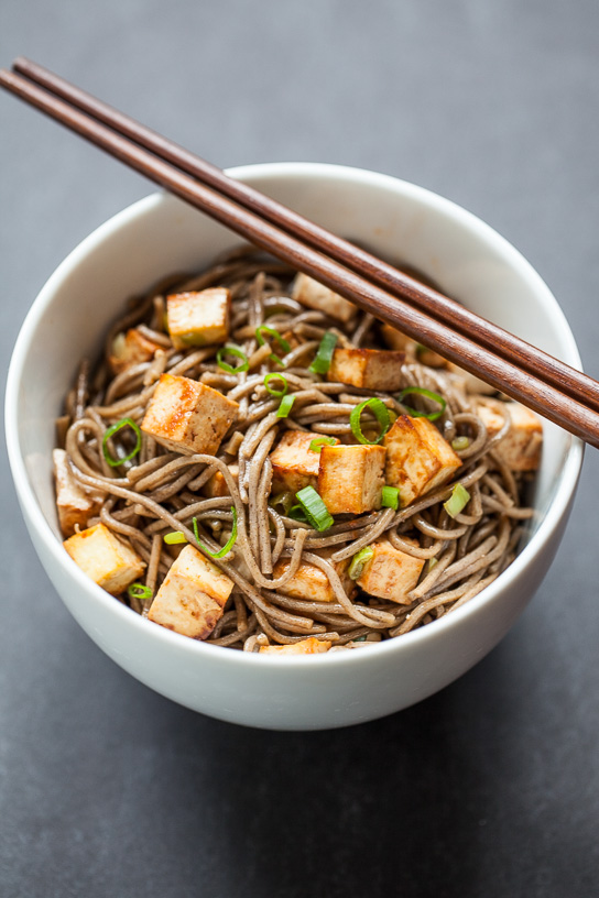 Easy Baked Tofu with Soba Noodles   Gather & Dine