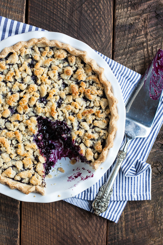 Wild Blueberry Pie with Almond Oat Crumble | Gather & Dine