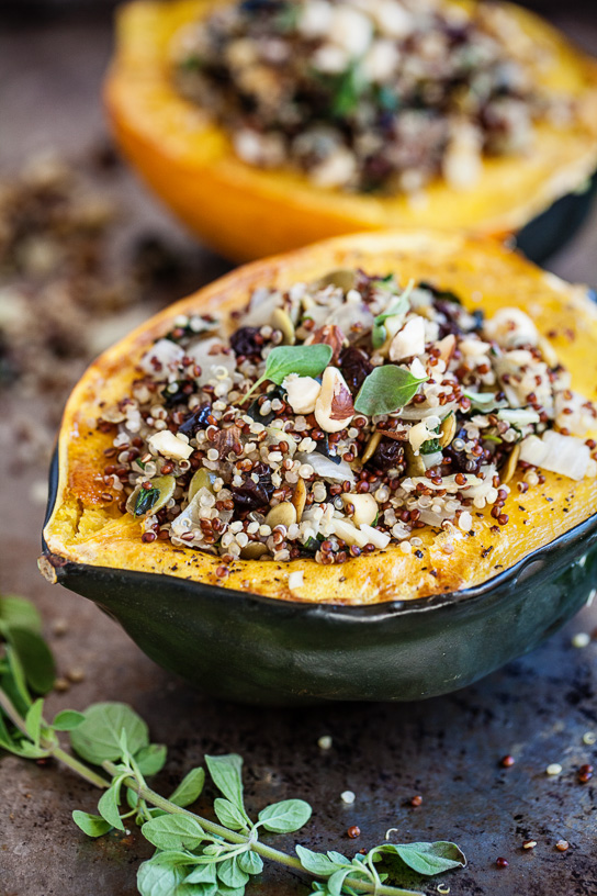 Quinoa Stuffed Acorn Squash | Gather & Dine
