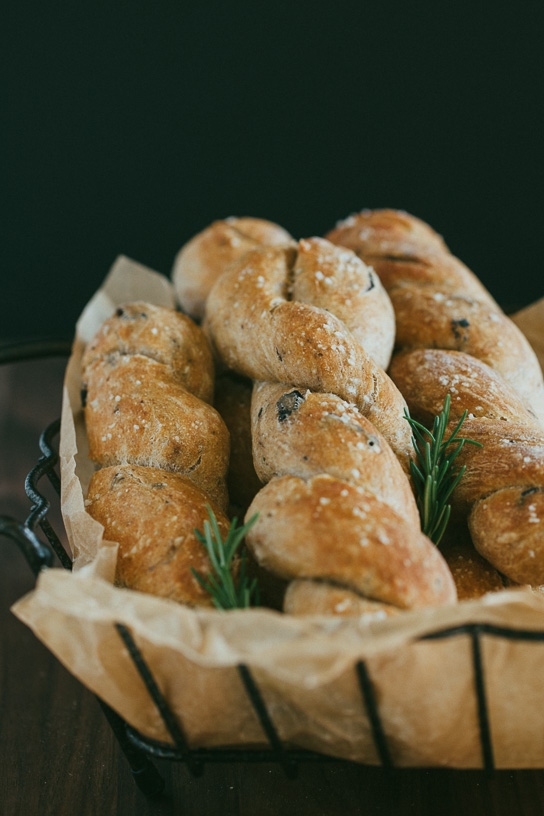 Olive and Rosemary Breadstick Twists -