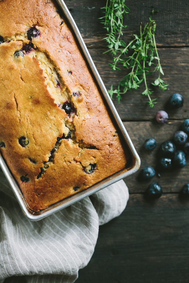 Blueberry Lemon Thyme Bread