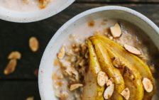 Creamy Whole Oats with Cardamom Roasted Pears