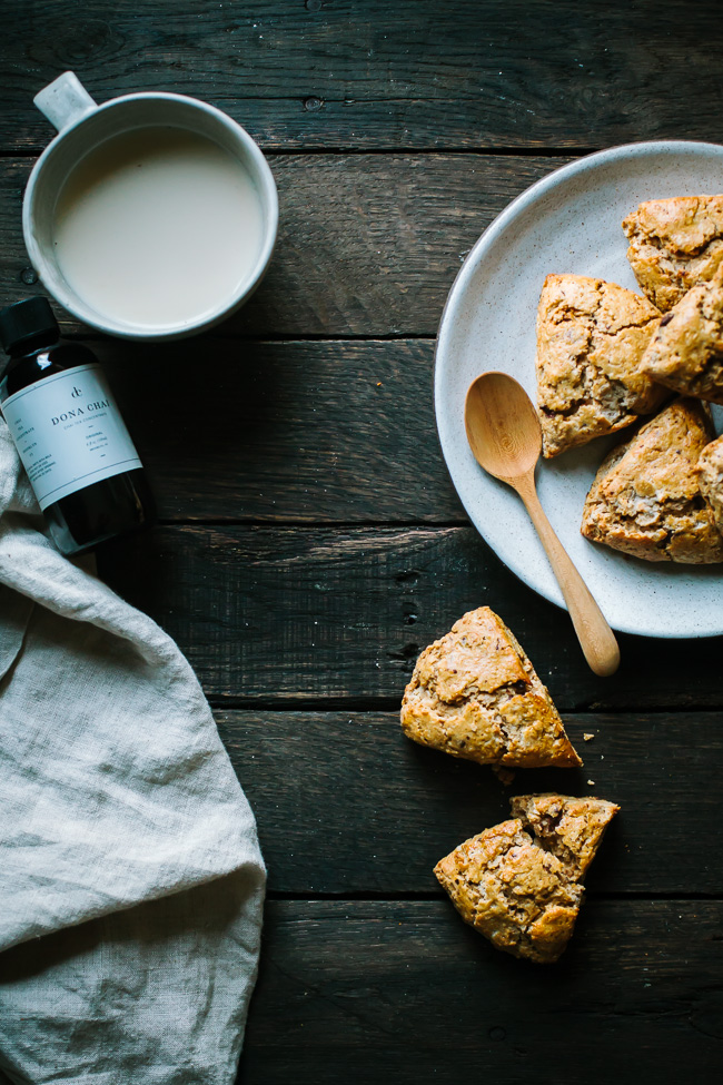 Chai Spice Scones with Dark Chocolate