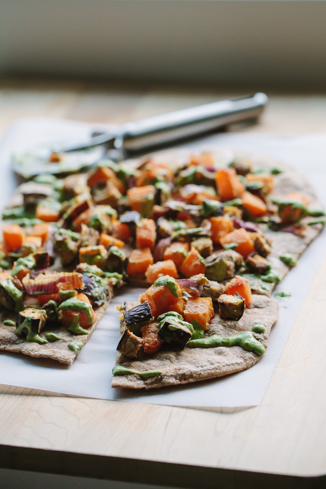 Roasted Veggie Flat Bread Recipe — Dishmaps
