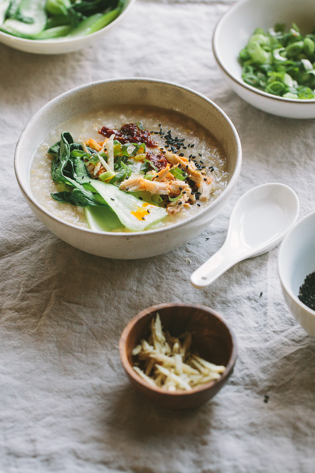 Ginger Chicken Brown Rice Congee