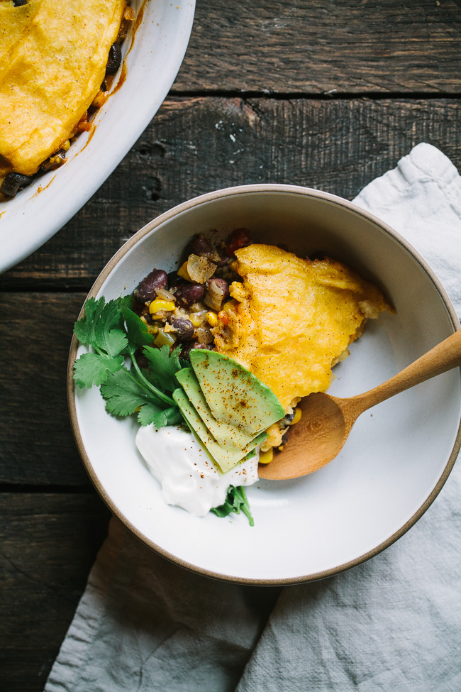 Bean and Veggie Tamale Pie