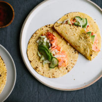Chipotle Roasted Salmon Tacos