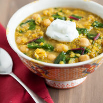 Curried Red Lentils with Swiss Chard