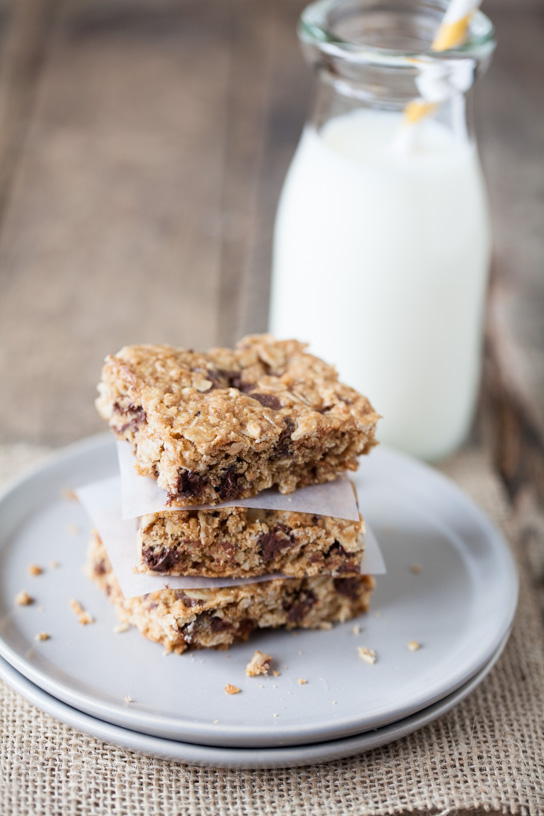 Chocolate Oat Chip Crispie Bars