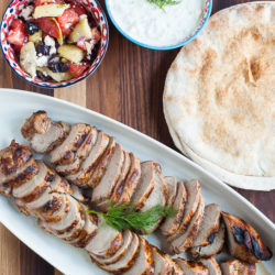 Greek-Marinated Pork Tenderloin with Tzatziki