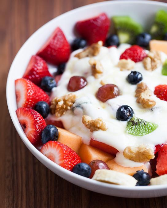 Fruit, Nut, and Honey Yogurt Bowl
