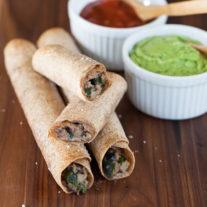 Turkey Spinach Taquitos | Gather & Dine