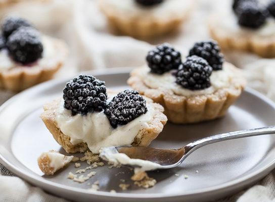 Blackberry Vanilla Bean Tartlets