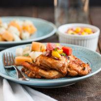 Chipotle Chicken with Mango-Tomato Salsa| Gather & Dine