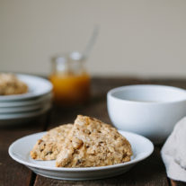 Whole Wheat Apricot Scones {with Oats and Flax} | Gather & Dine