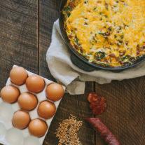 Barley Chorizo Skillet Pie | Gather & Dine