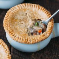Turkey Pot Pie {with a Cheddar Crust} | Gather & Dine