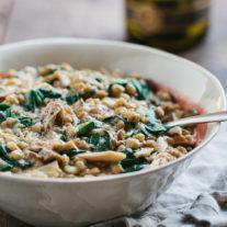 Wild Mushroom Farro Risotto | Gather & Dine