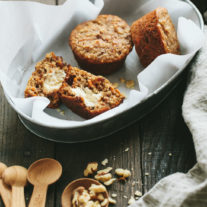 Carrot Banana Muffins {with honey cream cheese} | Gather & Dine