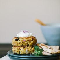 Greek Quinoa Patties