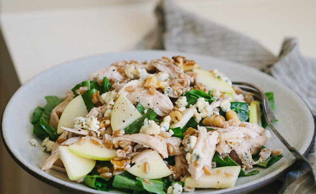 Chicken Farro Salad with Apples and Walnuts