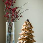 Almond Biscotti Christmas Tree