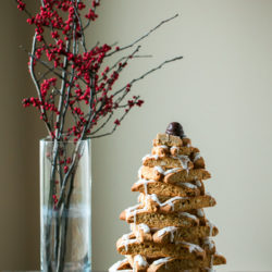 Almond Biscotti Christmas Tree