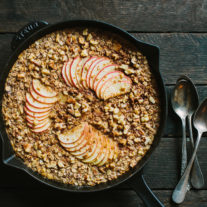 Apple Raisin Walnut Baked Oatmeal with Barley and Rye