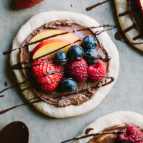 Chocolate Hazelnut Fruit Pizza with Sourdough Crust