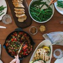 Caponata with Grilled Rosemary Chicken