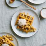 Cornmeal Quinoa Waffles with Honeyed Cinnamon Ricotta
