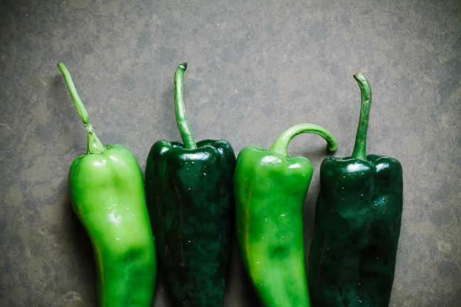 Roasted Green Chilis
