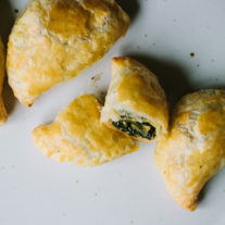 Puff Pastry Empanadas with Greens and Olives