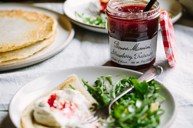 Buckwheat Crepes with Whipped Ricotta Goat Cheese and ...