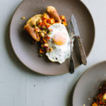 Popover with Sweet Potato Chickpea Hash