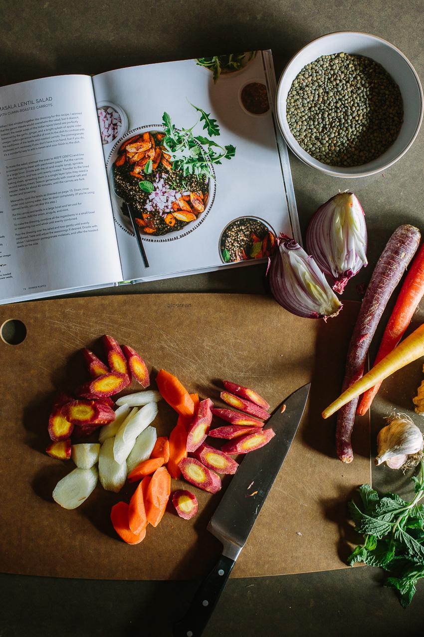 Masala Lentil Salad with Cumin-Roasted Carrots
