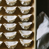 Pork Chard Chive Dumplings + a wrapping tutorial